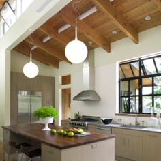 WINDOWS- Light-filled kitchen in Northern California