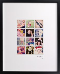 make a piece of art out of 12 photos. a year in my life art print by robin ott design for minted