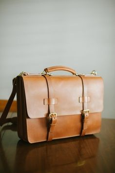 Frank Clegg leather briefcase
