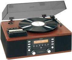 Image of Teac LPR500 All-In-One CD/Turntable/Cassette/Tuner Hifi System (Wood)