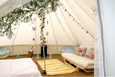 Bell #tent all decked out. #glamping