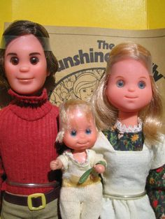 The Sunshine Family: Steve, Steffie and little baby Sweet's. I loved these when I was little!!  (Dads kinda creepy in a way)