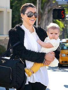 Kourtney Kardashian and her daughter Penelope Disick