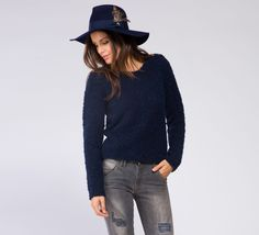 WML329 - Cycle  #cyclejeans #sweater #blue