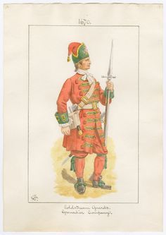 British; Coldstream Guards, Grenadier, 1670 by Charles Lyall