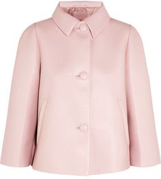 Prada - Cropped Leather Jacket - Baby pink