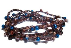 pedazos - beaded crochet necklace