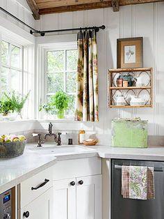 New kitchen corner sink layout countertops ideas Kitchen Paint, Kitchen Tiles, Kitchen Countertops, Kitchen Decor, Kitchen Cabinets, Grey Cupboards, Limestone Countertops, Quartzite Countertops, Decorating Kitchen