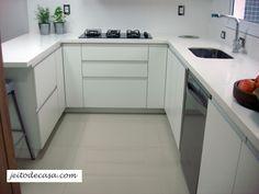 Cozinha branca de apartamento - minha cozinha! - Jeito de Casa - Blog de Decoração