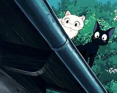 Majo no Takkyūbin (Kiki's Delivery Service) - 1989 Hayao Miyazaki, Kiki Delivery, Kiki's Delivery Service, Studio Ghibli Art, Studio Ghibli Movies, Anime Cat, Anime Guys, Anim Gif, Film D'animation