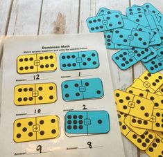 Dominoes are a lot of fun, but they can also be educational! This fun game will help your child with their math facts!