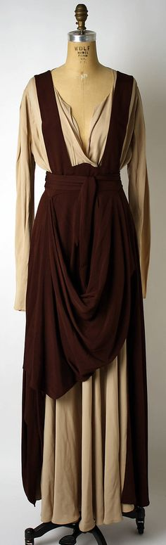 down to earth - Valentina 1940, silk. It reminds me of, like, a Jedi robe or something.