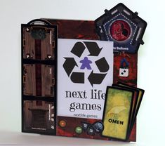 Betrayal at House on the Hill - Deluxe Board Game Picture Frame - 5 x 7 Unique and Handmade Feature Tiles, Game Room Decor, Game Night, Betrayal, Board Games, Picture Frames, Geek Stuff, 3d