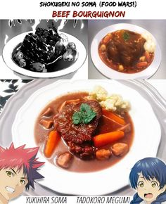 Shokugeki no soma food wars eggs benedict with karasumi shokugeki no soma food wars beef bourguignon mangaanimereal life c to their respective owners forumfinder Images