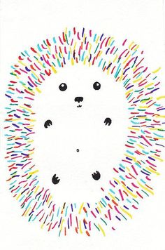Hedgehog Print Colorful Hedgehog Illustration Hedgehog Art Print Wall Art Bedroom Decor Woodland Animal Home Decor Rainbow Decor Bunte Igel Kunstdruck Illustration Igel Kunstdruck Wandkunst Igel… Art And Illustration, Hedgehog Illustration, Cartoon Illustrations, Hedgehog Art, Hedgehog Drawing, Hedgehog Animal, Reproductions Murales, Rainbow Decorations, Pretty Drawings
