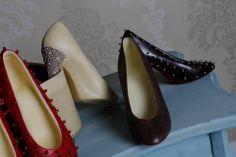 Chocolate Shoes made by Azra Chocolates www.azrachocolates.co.uk