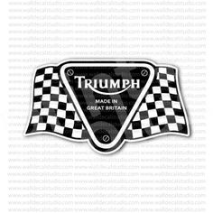 Triumph Made in Great Britain Motorcycle Sticker for - Stickers Motorcycle Triumph Logo, Triumph Motorcycles, Motorcycle Stickers, Motorcycle Posters, Great Britain, Lockers, Harley Davidson, Graphics, Logos