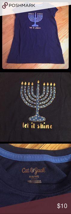 Hanukkah girls T-shirt with menorah Girls Hanukkah T-shirt, never worn, size s cat & jack Shirts & Tops Tees - Short Sleeve