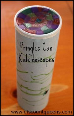 We still had a couple of Pringles cans lying around, and since the kids enjoyed making the wind socks, we decided to use them to make Kaleidoscopes. MATERIALS NEEDED: Pringles cans mirror paper ( I…