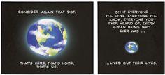 "Carl Sagan's ""Pale Blue Dot"": Amazing Art Based on Sagan's Essay."