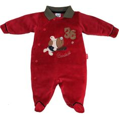 Macacão Bebê Menino em Plush Vermelho - Sonho Mágico :: 764 Kids   Roupa bebê e infantil