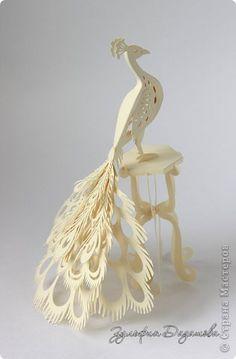 #papercraft #papercutting #papersculpting.    изделие Бумагопластика Вырезание Павлин Бумага фото 2