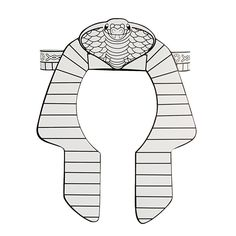 Pharaoh headdress template images for Egyptian masks templates
