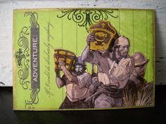 """#ATC (artist trading card) (inspiration was an old book print from Treasure Island and of course, the pirates) title: """"adventure"""""""
