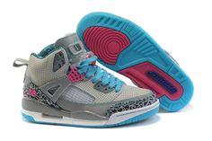 Women's Air Jordan Spizike (3.5) Beige Blue White