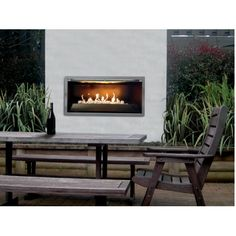 Outdoor propane fireplace allows you to enjoy the benefits of a fireplace when burning wood fuel is not a preference. Many people simply do not like Gas Firepit, Outdoor Propane Fireplace, Fireplace Kits, Outdoor Gas Fireplace, Cozy Corner, Gas Fireplace, Outdoor Walls, Deck Fireplace, Fireplace