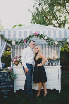 Parisian-themed garden engagement party | Photo by Katie Pritchard Photo | Read more - http://www.100layercake.com/blog/?p=76900