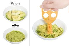 A pair of scissor-like objects to mash, chop, and cut up food for a baby. | 33 Products Under $15 That Are Basically Already In Your Shopping Cart