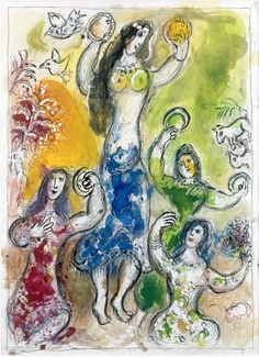 Marc Chagall -  The Dance - Miriam, sister of Moses & the women after crossing the Red Sea - Google Search