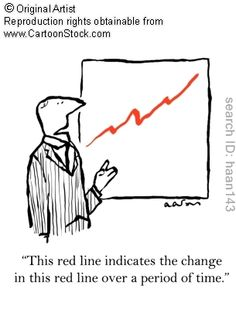 'This red line indicates the change in this red line over a period of time,' by Aaron, Huw