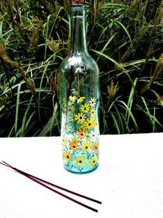 Wine Bottle Incense Burner Smoking Bottle by GlassGaloreGal