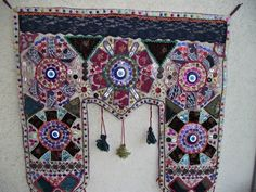 Evil Eye Wall Hanging 34X32 Inch Handmade Turkish Rug Original Wall Decor Kilim
