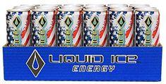 Liquid Ice Energy Drink Limited America, 12 Ounce, 24 Count Liquid Ice, Energy Drinks, Counting, America, Usa