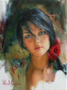 женский портрет в живописи современных художников | Восхитительные женские…