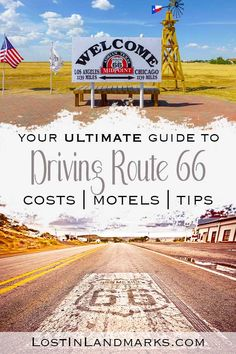 Ultimate Route 66 planning guide with all your questions answered! From itinerary planning to booking hotel and renting a car you'll find all the information and driving tips here #route66 Canada Travel, Travel Usa, Travel Tips, Travelling Tips, Budget Travel, Travel Guides, Driving Route 66, Driving Tips, Us Road Trip