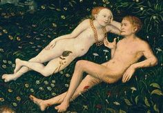 .:. Detail from The Golden Age, Lucas Cranach the Elder