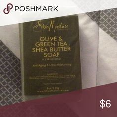 She's moisture olive and green tea she butter soap Brand new, never used, wrapped in original packing. Size 8 oz shea moisture Accessories