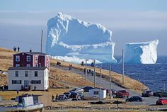 This year, Iceberg Alley, located along the coast of Newfoundland, is chock-full of icebergs that have broken off the Greenland ice sheet.