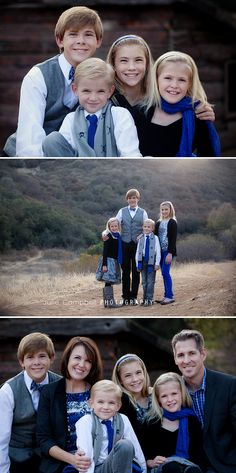 What to wear for a family photo session. Classic clothing with a splash of color | Thousand Oaks, CA
