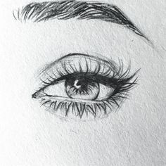 ideas and inspirations on how to draw eye pencil drawings simple step by step instructions female eye drawn with pencil draw drawingtips drawings eye ideas illustrations inspirations how to draw eyes drawing skills basic tricks quick pencil sketching Easy Pencil Drawings, Eye Pencil Drawing, Art Drawings Sketches, Sketch Art, Dr Manhattan, Drawing Sites, Female Eyes, Black And White Design, Eye Art