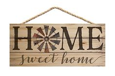 Home Sweet Home Vintage Windmill 10 x 4.5 Inch Pine Wood ...