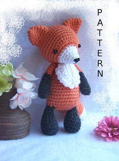 Crochet Amigurumi Pattern Seamless Fox/One-Piece Fox-Amigurumi
