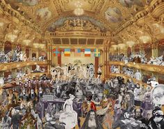 Marcel Duchamp's World Tour: New Year's Eve Parade at the Tower Ballroom, Blackpool by Sir Peter Blake