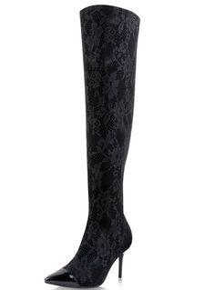 Stivali con tacco alto neri 53.25