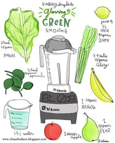 Detox. Glowing Green Smoothie. From Kimberly Snyder