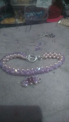 Sparkly bracelet and matching earrings